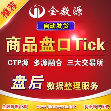 商品期货盘口tick自动推送数据